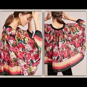 Anthropologie Bl^nk Floral Dolman Sleeved Kimono